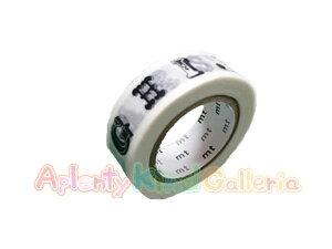 【2012A/W】カモイ/マスキングテープ mtexアルファベット・黒R MTEX1P39 ★カモ井の幅15mmのマステABCあるふぁべっと英字文字デザイン★【3cmメール便OK】