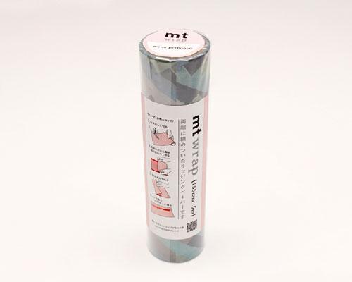 【2018年3月新商品】カモイ/マスキングテープ mt wrap S mina perhonen prism-pale mix [幅155mm×5m]  MTWRMI62 【3cmメール便不可】