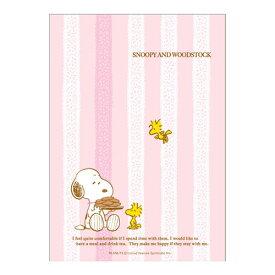 【SNOOPYグッズ】PPカバーノート スヌーピー427SQC/ピンク色 B6サイズ クツワ/KUTSUWA ★スヌーピーのカバー付きノートスヌーピーグッズ可愛いノートストライプ柄★【3cmメール便OK】