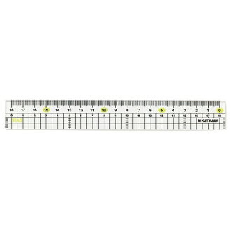 Left-handed methacrylate straight ruler 18 cm ctswa HS181L