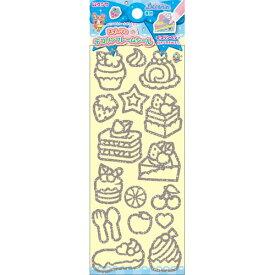 【3cmメール便OK】クツワ デコリンフレーム(スイーツA) pt840c  ☆ケーキやフルーツの形のデコリンシール☆