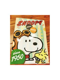 Snoopy A4 plastic file folder ( face ) D stationery series 505 SQD ★ ctswa snoopy clear file documents organized membership of back to school new life ★