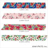 Flower Pink MST-MKT18-PK (romantic flower series) width 15 mm / floral flower pattern ★ ★ マークスマス tape MULTI multi /Marks