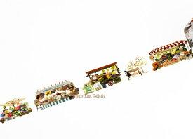 【大人気商品】Autumn マルシェ/maruche YD-MK-050 yano design masking tape debut series natural ラウンドトップマスキングテープ★お店お花屋さん公園ベンチ型抜きマステROUND TOP★【3cmメール便OK】