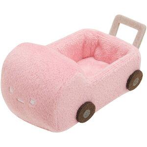 【Sumikkoグッズ】てのりぬいぐるみ カート/ピンク色MX-58801 すみっコぐらし えびふらいのしっぽのおつかい ★すみっこぐらしの手乗りぬいぐるみを乗せることが出来ます/すみコレグッズす