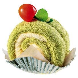 【プチギフト】 ル・パティシエ タオルケーキ カットロールケーキ 抹茶 LPS-512★ホワイトデーのお返しに/手軽なタオルギフト/ラッピングされています★【3cmメール便不可】