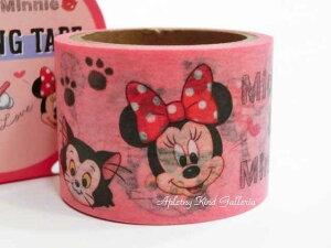 【Disneyグッズ】ディズニーマスキングテープ ミニーマウス DC DR/MM S4833953 ピンク色 ★幅30mmのマステディズニーグッズ/ミニーちゃんのマステミッキーマウスイラストお絵描き赤いリボン柄/