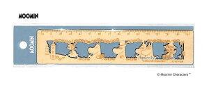 【MOOMINグッズ】ムーミン木製定規 15cm S4006356 MU19AW ファミリー柄/ブルーグレー★ムーミンの木製の定規15センチものさしじょうぎ/型ぬきデザインおしゃれな定規ムーミングッズリトルミイf