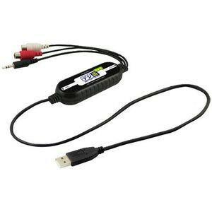【アウトレット】【メール便可】 プリンストン ステレオRCA端子 & 3.5mmステレオミニプラグ to USBアナログキャプチャーケーブル デジ造音楽版 PCA-ACU 付属CD-ROM(ソフト)無し
