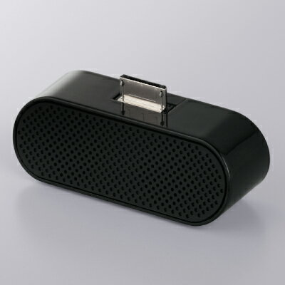 【アウトレット】バッファロー Walkman WM-PORT 用 コンパクト ステレオ スピーカー 黒 ブラック BSSP24WBK