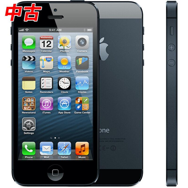 【送料無料】【中古】Apple iPhone5 32GB ブラック A1429 au版 ME043J/A