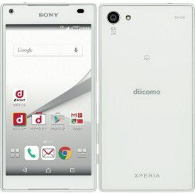 【中古】 SONY SO-02H Xperia Z5 Compact White 本体 箱無し 付属品無し 白ロム docomo版 非赤ロム ソニー エクスペリア ホワイト