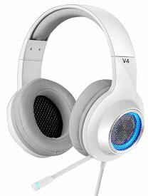 【半額】【アウトレット】ED-V4WH Edifier プロゲーミング用ハイスペック、ゲーミングヘッドセット 「V4」 7.1ch ホワイト