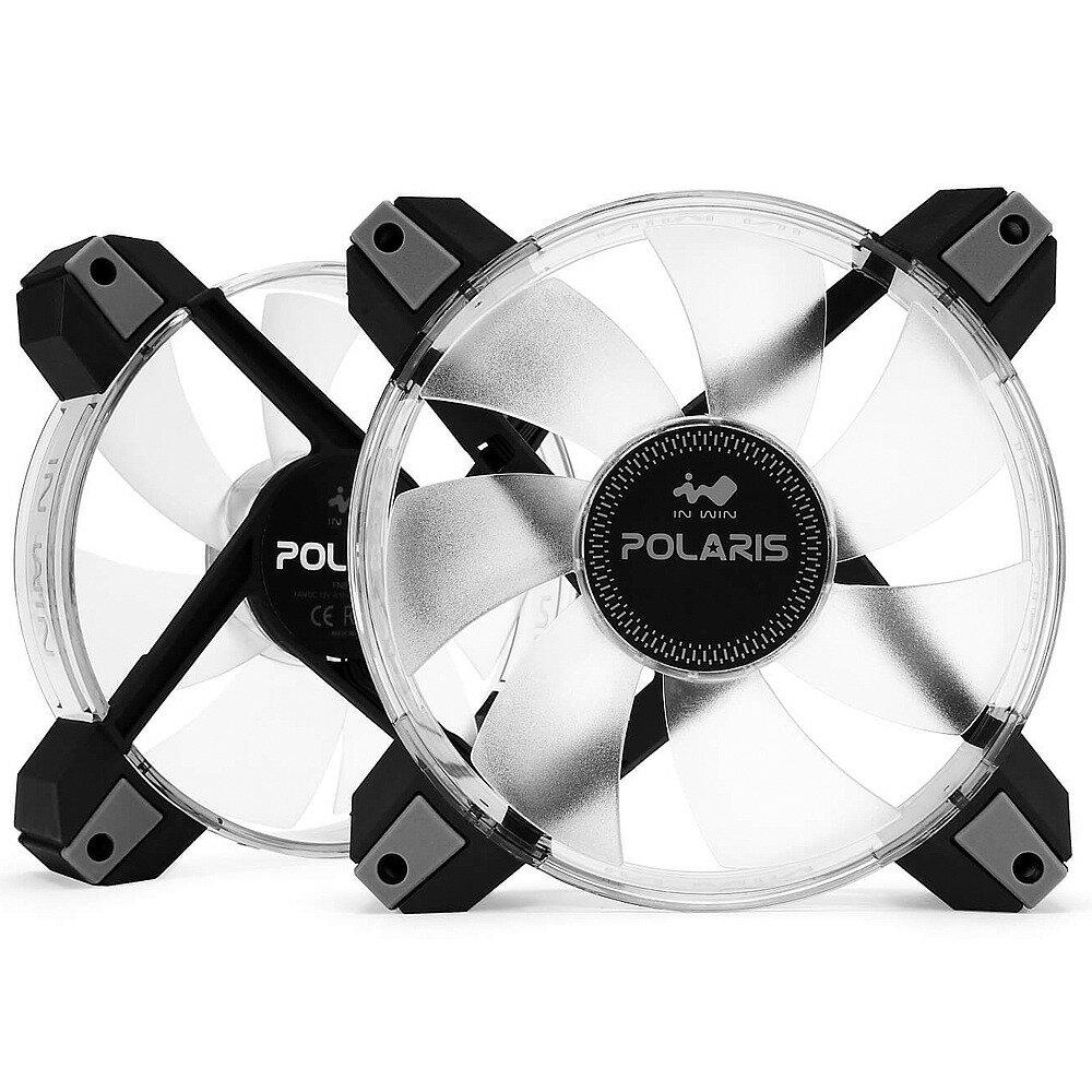 InWin インウィン RGB LED搭載 120mm ケースファン POLARIS RGB スターターキット [ファン2台入り]