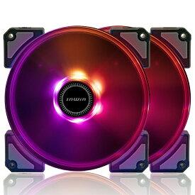 InWin CROWN AC120 2台入り インウィン RGB対応 12cmケースファン [AC120FAN-2PK]