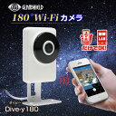 防犯カメラ 180°Wi-Fiカメラ Dive-y180 ダイビー180 Glanshield(グランシールド)