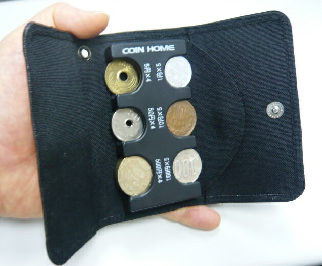携帯コインホルダーコインホーム用ケース F8050 人口スエード仕様(ブラック) ファルコン