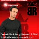 防刃シャツ ブレードランナー BR-ケブラーロングTシャツ ブラック