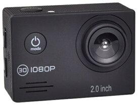 SAC フルHD 1080p 対応アクションカメラ 2インチ液晶 30M防水ケース付き AC200BK(ブラック)