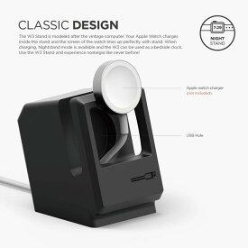 《在庫あり》Apple Watch 専用 シリコン製 スタンド W3 STAND ブラック [EST-WT3-BK]