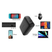 Hyper++手のひらサイズのSwichドックにもなる多機能USBパワーハブ最大60W出力で3台同時充電HDMI4K/60Hzの高画質映像出力&高速データ転送が可能HyperDrive60WUSB-C/Switch用多機能ドック[HP-HDNS60BK]