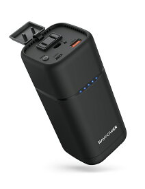 RAVPower ACポート最大100W,定格80Wの出力にも対応 アウトドアや非常事態にも対応できるポータブル電源 大容量 定格80WのACポートを搭載 20000mAhポータブル電源 RP-PB054 Pro [RP-PB054Pro]