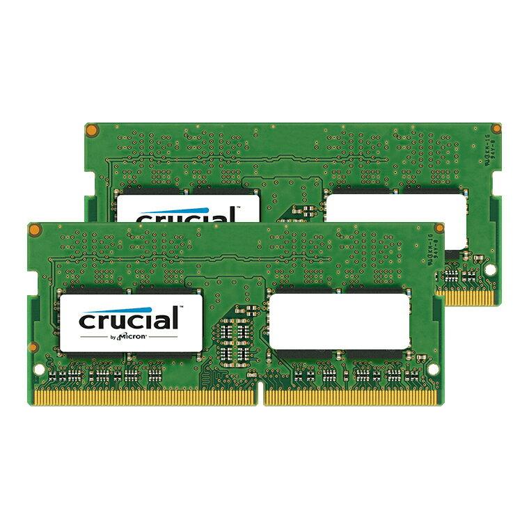 《在庫あり》Crucial 260Pin DDR4 SO-DIMM 2666MHz 32GB(16GBx2) [260-2666-16384x2-CR]