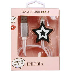IPHORIA Lighting Cable for Apple iPhone − Black Star 15143 [振込不可]