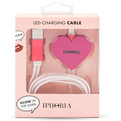 IPHORIA Lighting Cable for Apple iPhone − Pink Heart 15144 [振込不可]