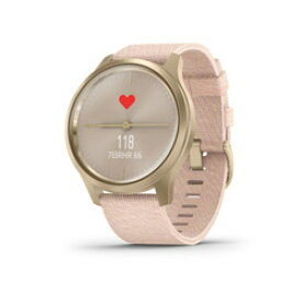 【新品】ガーミン(GARMIN) vivomove Style Blush Pink Nylon / Light Gold 010-02240-72 (0100224072)