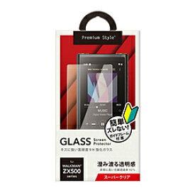 PGA WALKMAN NW-ZX500用 液晶保護ガラス スーパークリア Premium Style PG-WMZ500GL01 PGWMZ500GL01