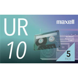 maxell オーディオカセットテープ10分5巻パック UR-10N5P UR10N5P