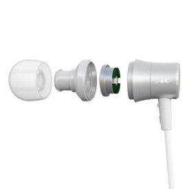 radius(ラディウス) HP-NEL21 シルバー【リモコン・マイク対応】 ライトニングイヤホン カナル型 HPNEL21S