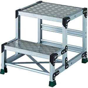 トラスコ中山 TRUSCO アルミ合金製作業台 縞鋼板 2段  500X400 TSFC255