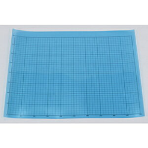 トラスコ中山 TRUSCO 液晶保護フィルム フッ素光沢 基材100ミクロン シリコン粘着剤50ミクロン 400X500MM 方眼印刷、R定規付 TEHF4050