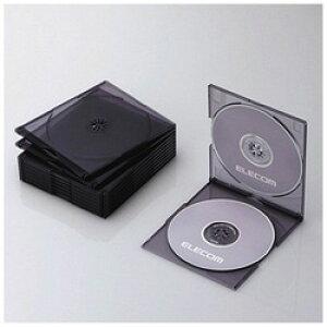 ELECOM(エレコム) CD/DVD/Blu-ray対応収納スリムケース (2枚収納×10セット・クリアブラック) CCD-JSCSW10CBK CCDJSCSW10CBK