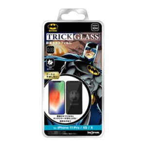 INGREM iPhone 11 Pro/XS/X 『バットマン』/トリックガラスフィルム 10H IN-WP23FG/BM1 INWP23FGBM1