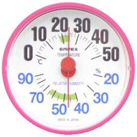 エンペックス 温湿度計 「ルシード」 BC3655(ピンク)【ビックカメラグループオリジナル】 BC3655