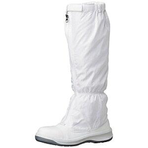 ミドリ安全 ミドリ安全 トウガード付 静電安全靴 GCR1200 フルCAP フード ホワイト 24.0cm GCR1200FCAPH24.0