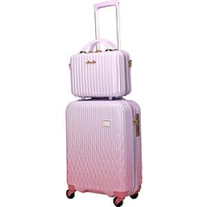 シフレ LUNALUX(ルナルクス)スーツケース ハード ジッパー LUN2116-67 ホワイトピンク/ピンク [90L] LUN211667