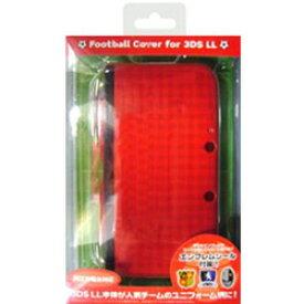 【在庫限り】 サイバーガジェット 3DS LL用 フットボールカバー レッド [CY-3DLFBC-RE] [振込不可]