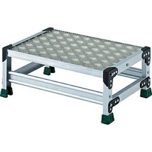 トラスコ中山 TRUSCO アルミ合金製作業台 縞鋼板 1段 高さ0.25m 600X400 TSFC1625