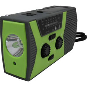 ヒース ソーラー手回し充電機能付き防災ラジオ HI8 [防滴ラジオ /AM/FM] HI8