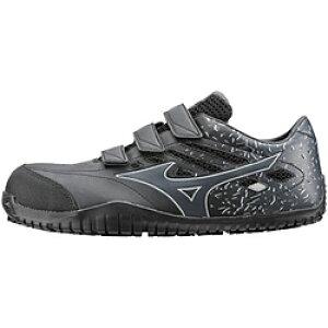 ミズノ 25.5cm 靴幅:3E メンズ 安全靴 MIZUNO WORKING オールマイティ TD22L(ブラックー×ダークグレー)F1GA190109【JSAA・普通作業用(A種)認定品 耐滑 プロテクティブスニーカー】 [25.5cm] F1GA190109