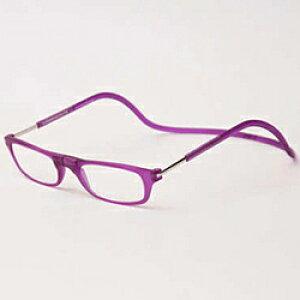 名古屋眼鏡 クリックリーダー マットタイプ(マットパープル/+3.50)