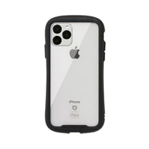 HAMEE iPhone 11 Pro 5.8インチ iFace Reflection強化ガラスクリアケース 41-907306 ブラック IPXIIFACERFTBK