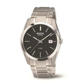 ボッチアチタニューム チタン製メンズメタルバンド腕時計 360804 BOCCIA TITANIUM 3608-04 [正規品] 360804