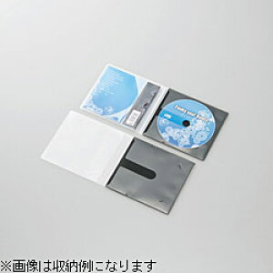 ELECOM(エレコム) CD/DVD用スリム収納ソフトケース (1枚収納×10セット・ブラック) CCD-DPC10BK CCDDPC10BK