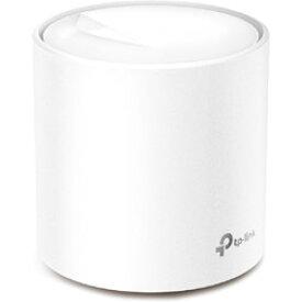 TPLINK Deco X20(1-pack) Wi-Fiルーター 1201+574Mbps [Wi-Fi 6(ax)/ac/n/a/g/b] DECOX201P