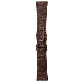 ビーケイシー BEAR時計バンド 革(19-15mm・トカゲ・チョコ) 3085219 3085219